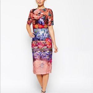 ASOS Fading Floral Dress